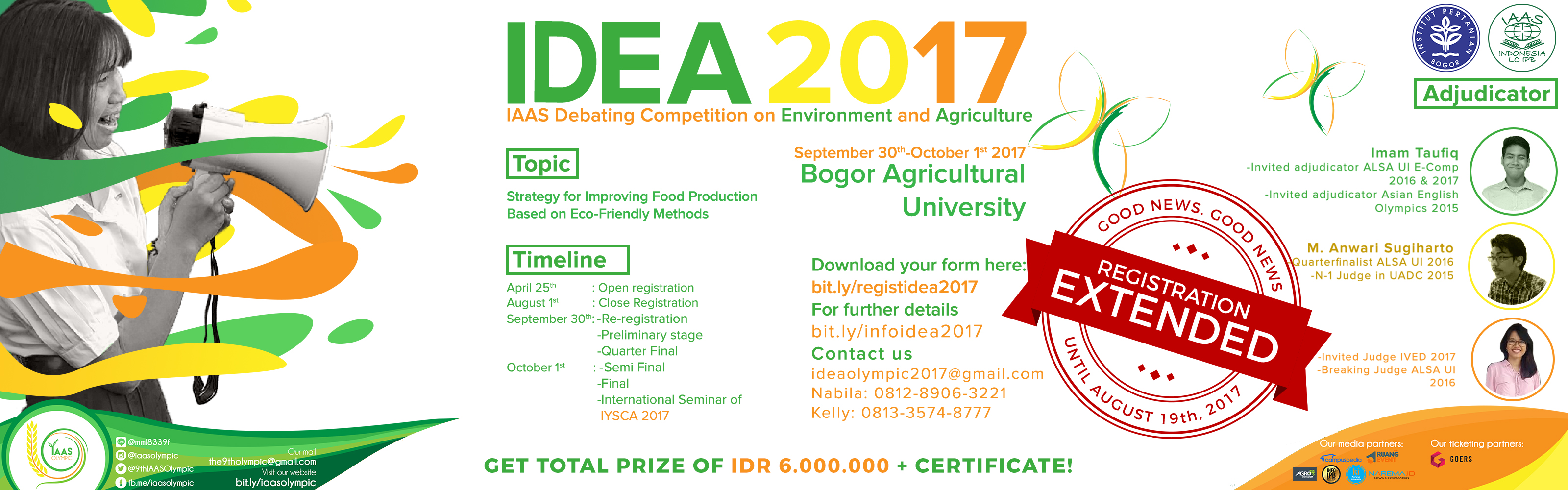IAAS Debating Competition on Environment and Agriculture (IDEA) 2017